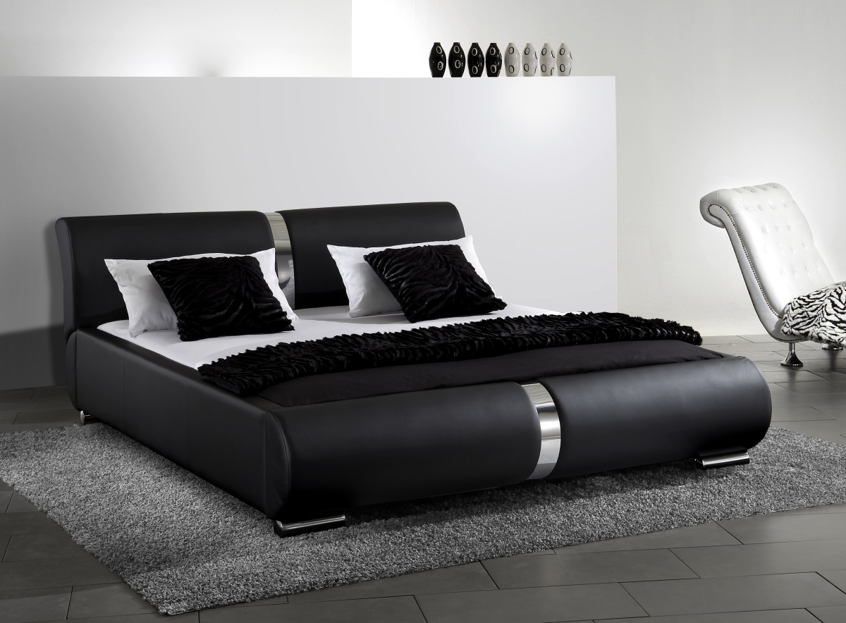 leder bett weiss sonstige preisvergleiche. Black Bedroom Furniture Sets. Home Design Ideas