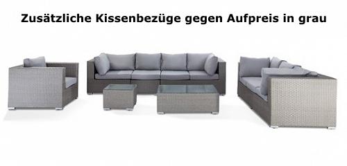 Gartenmobel Aluminium Eloxiert : Designer rattan gartenmbel lounge rattanlounge gnstig schwarz weiss
