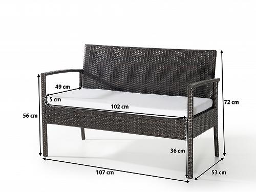g nstige rattan gartenm bel lounge rattanlounge garten sitzm bel neu supply24. Black Bedroom Furniture Sets. Home Design Ideas