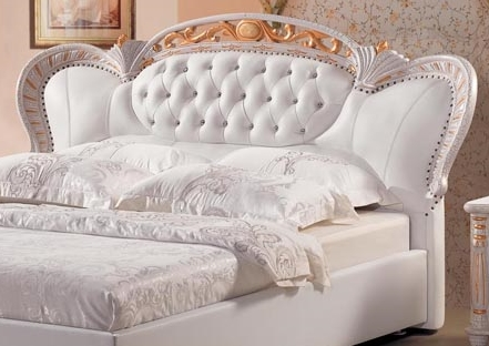 designer leder bett polsterbett princess lederbett klassisch barock. Black Bedroom Furniture Sets. Home Design Ideas