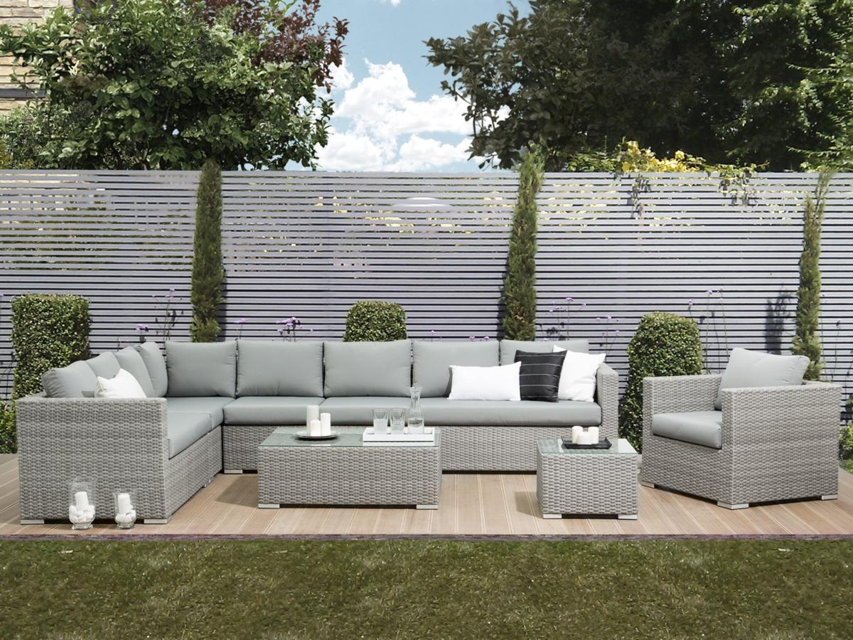 designer rattan gartenm bel lounge rattanlounge g nstig sitzm bel grau supply24. Black Bedroom Furniture Sets. Home Design Ideas