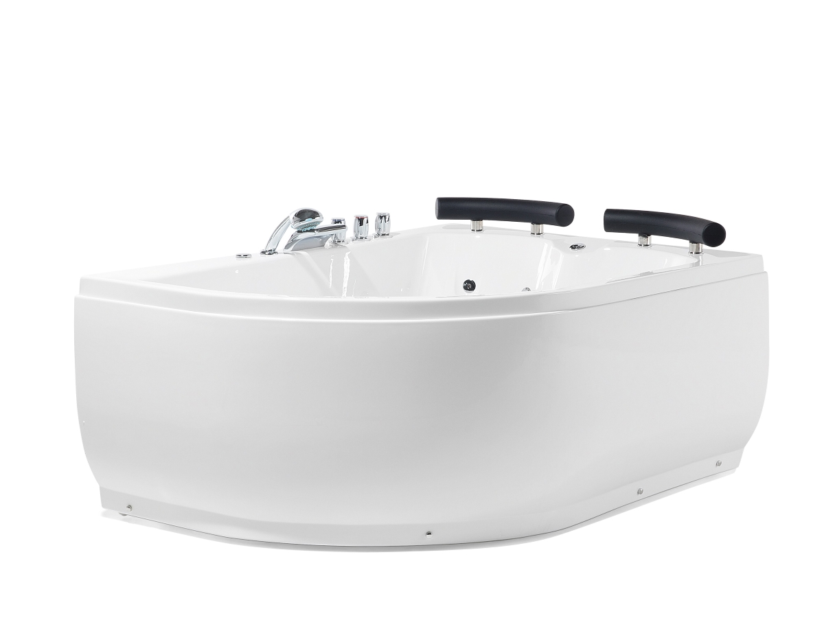 de luxe whirlpool baignoire grand baignore d 39 angle avec massage led double pas ebay. Black Bedroom Furniture Sets. Home Design Ideas