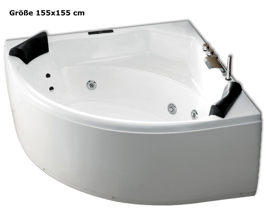 whirlpool badewanne g nstig eckwanne mit massage beleuchtung bestellen supply24. Black Bedroom Furniture Sets. Home Design Ideas
