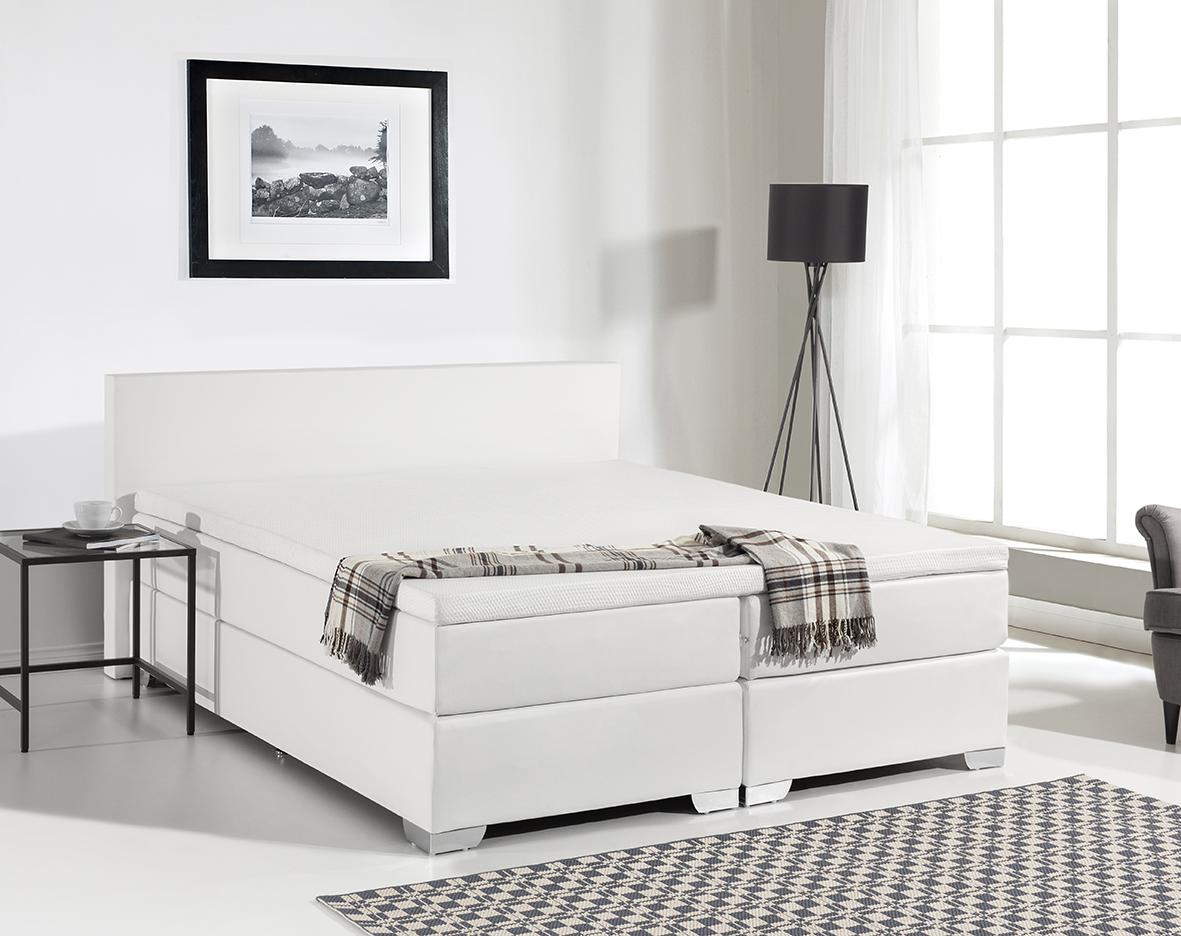 Exquisit Boxspringbett Weiß 180x200 Referenz Von Leder Mit Matratze Visko Visco Matratzenauflage Günstig