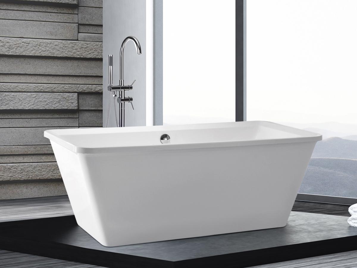 freistehend badewanne 170x79 cm g nstig freistehende rechteckige wanne supply24. Black Bedroom Furniture Sets. Home Design Ideas