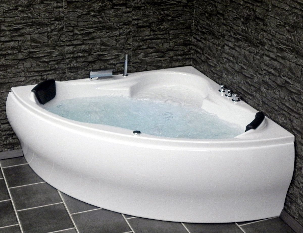 whirlpool badewanne paris mit 8 massage d sen led viega. Black Bedroom Furniture Sets. Home Design Ideas