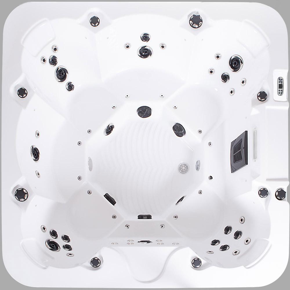 Jacuzzi ext rieur hot tub avec chauffage led ozone 57 for Jacuzzi d exterieur