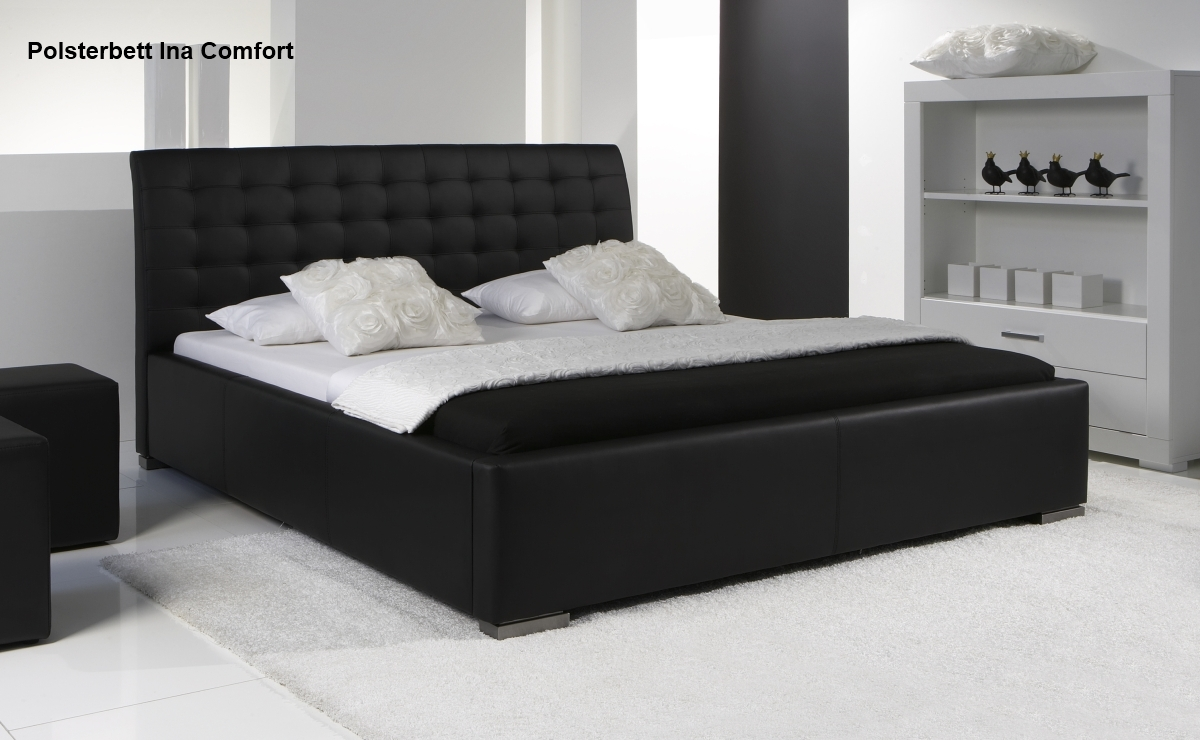leder bett polsterbett farbe weiss oder schwarz lederbett g nstig supply24. Black Bedroom Furniture Sets. Home Design Ideas