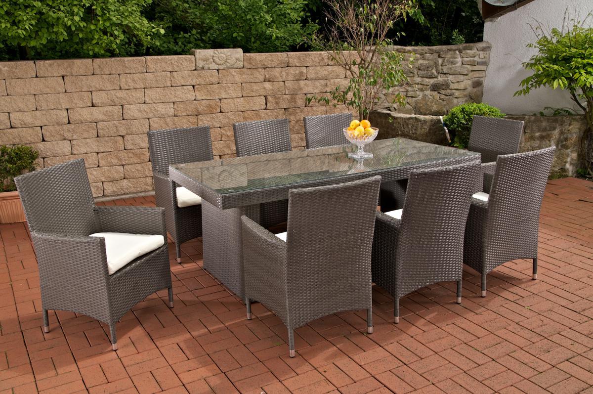 "Rattan garden furniture set ""Sun"" rattan table 200 cm and 8 chairs ..."