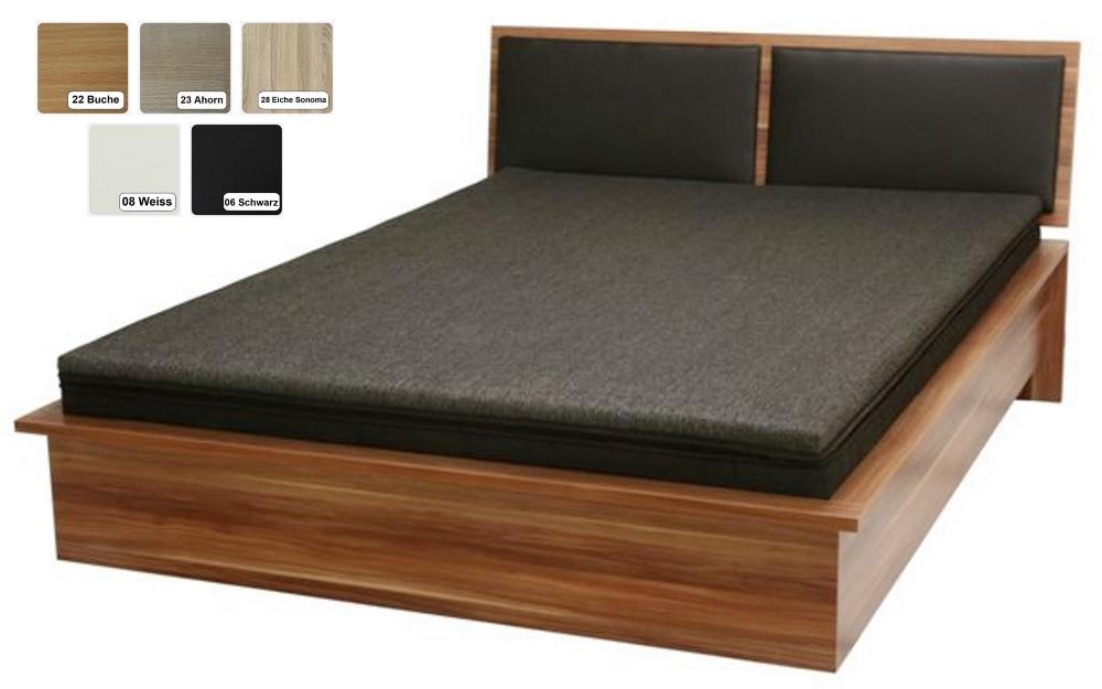 futon bett futonbett holzbett schwarz weiss buche ahorn sonoma eiche supply24. Black Bedroom Furniture Sets. Home Design Ideas